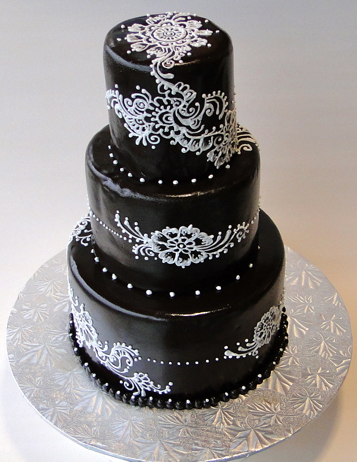 Baking Maniac 3 Tiered Henna Wedding Cake