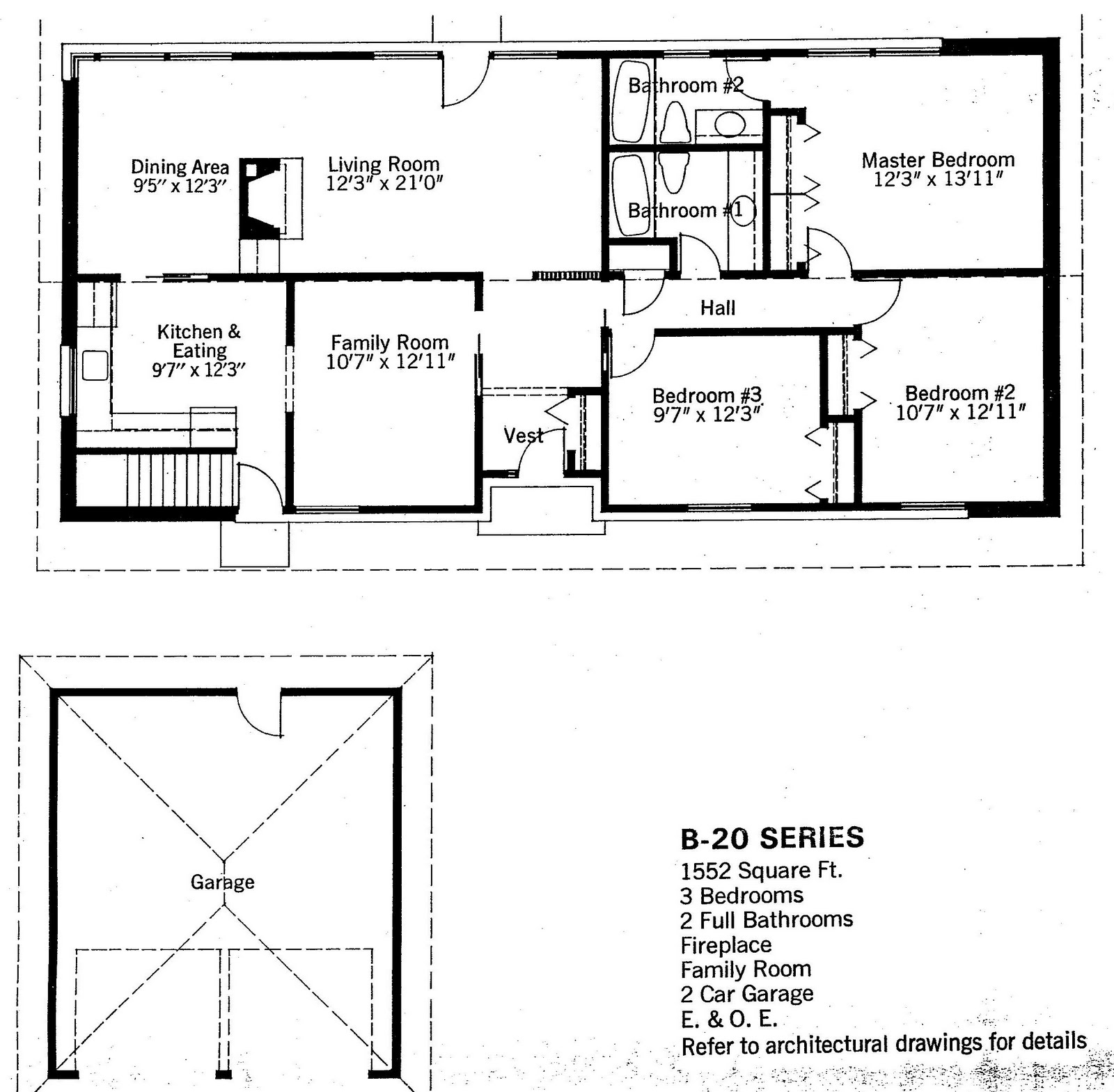 Mid century modern and 1970s era ottawa the bungalow for Basement entry floor plans