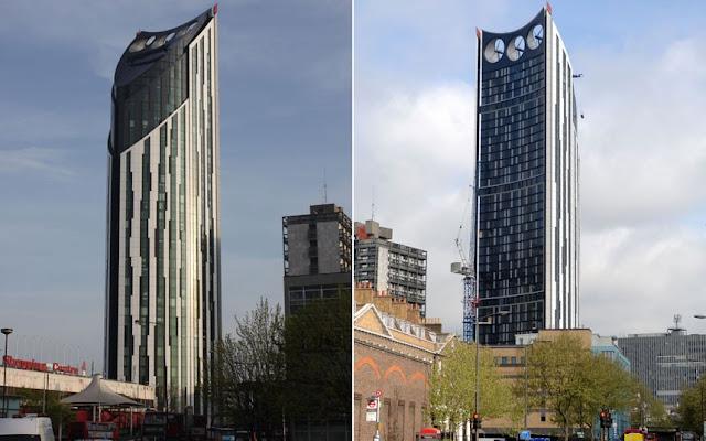 """Edificio «Strata SE1», también conocido como """"Razor"""" en la zona de Elephant & Castle en Londres"""