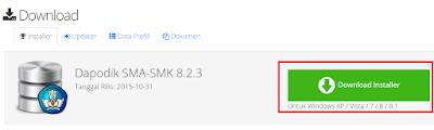 gambar download aplikasi dapodikmen Versi baru 8.2.3