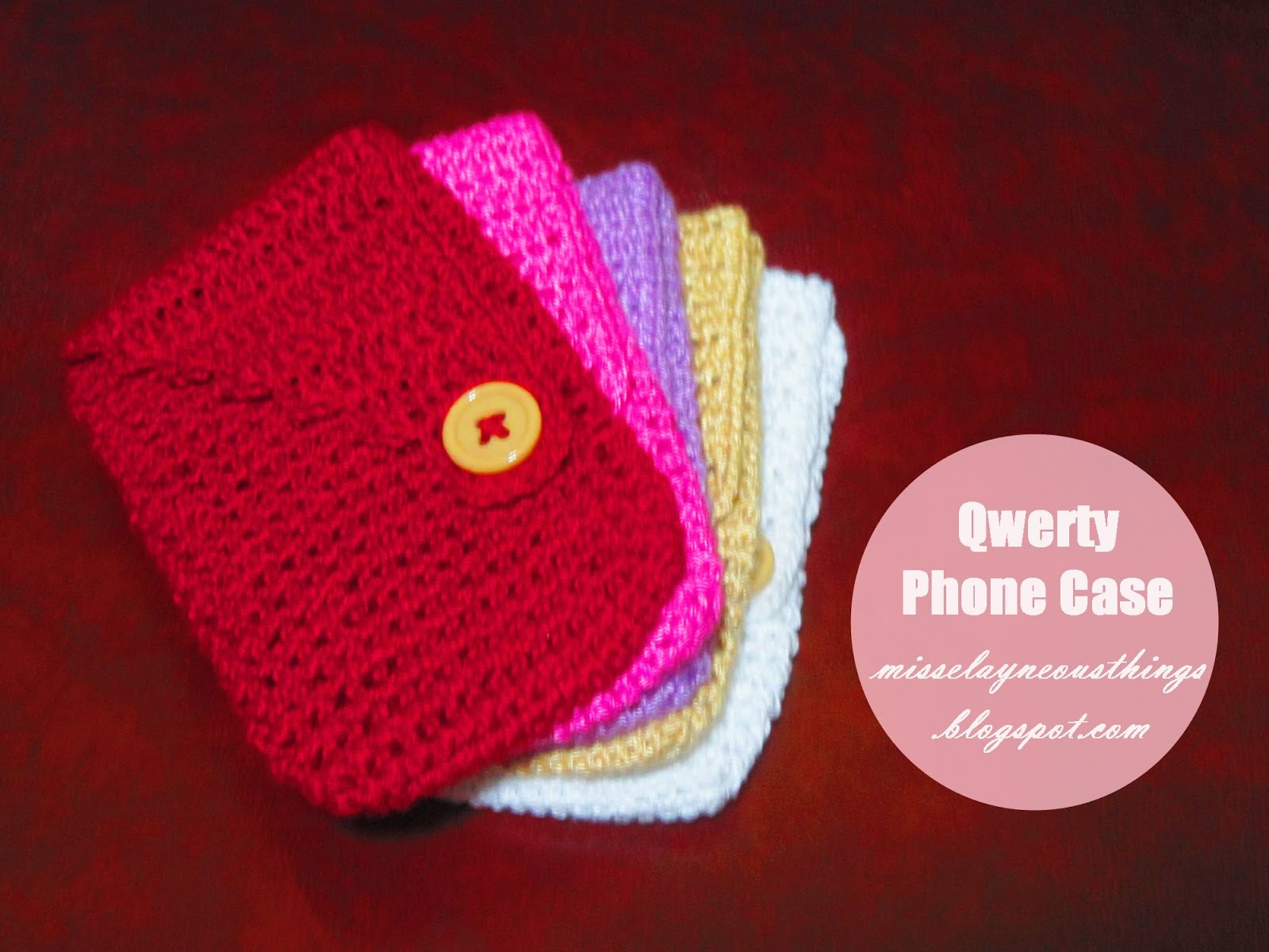 Free Crochet Cellphone Case A Blog About Misselayneous Things