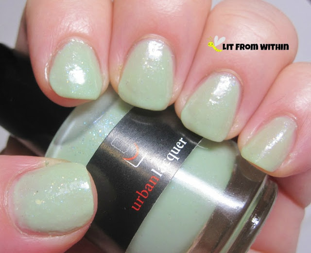 Urban Lacquer Mother Minter is a very sheer mint jelly polish