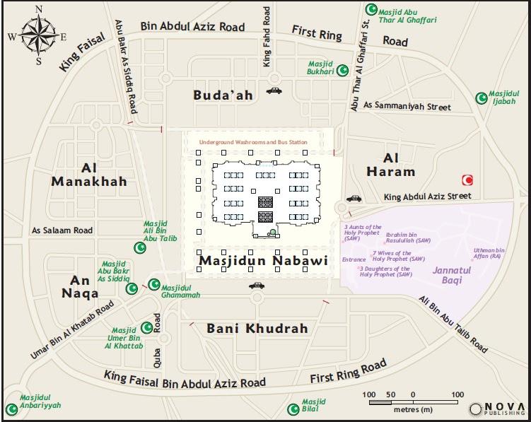 Makkah & Madina: Masjid al Nabawi Map