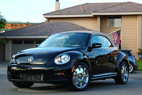 used 2013 volkswagen beetle black convertible by owner. Black Bedroom Furniture Sets. Home Design Ideas