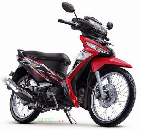 gambar motor honda supra x 125 merah