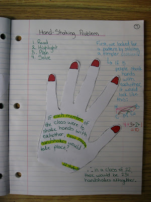 photo of steps to problem-solving math journal entry @ Runde's Room