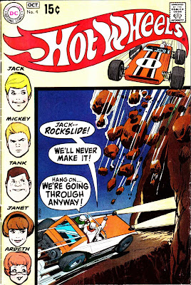 Hot Wheels v1 #4 dc 1970s bronze age comic book cover art by Alex Toth
