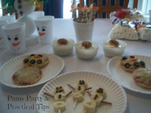 Snowman Treats for a #Frozen party