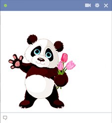 Panda and Bouquet