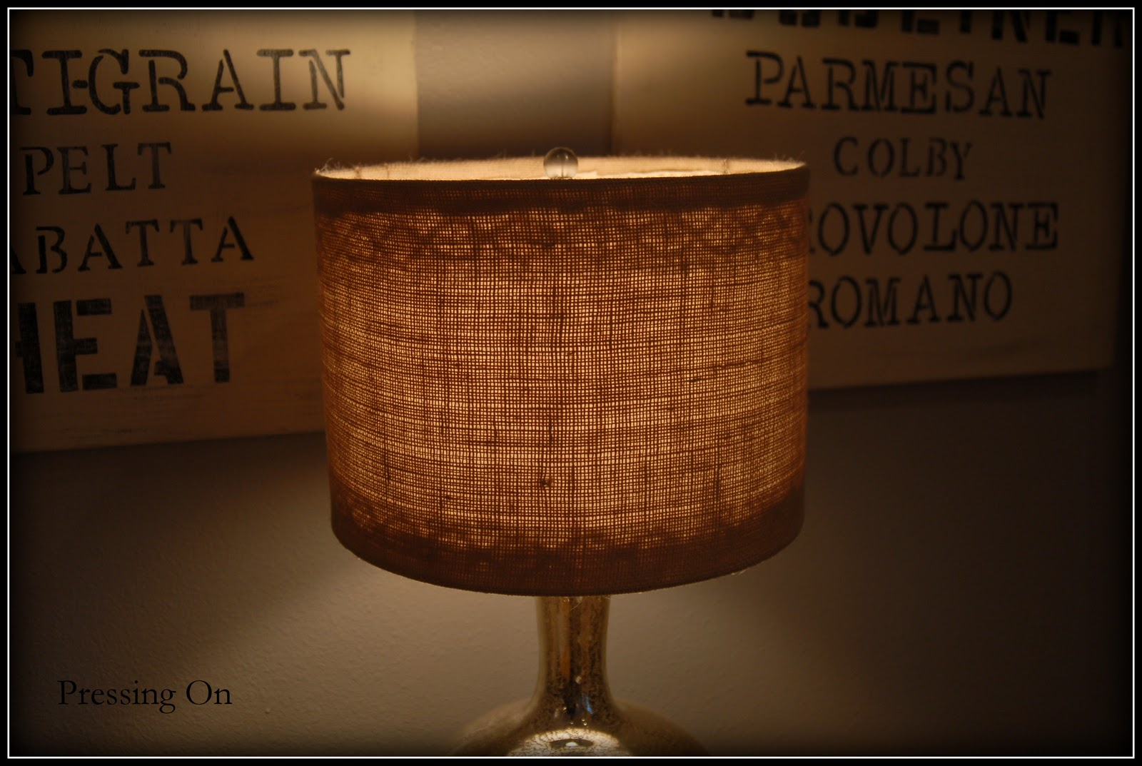 Pressing on burlap and lace lampshades i had these 2 lampshades one was dented and they both were boring mozeypictures Image collections