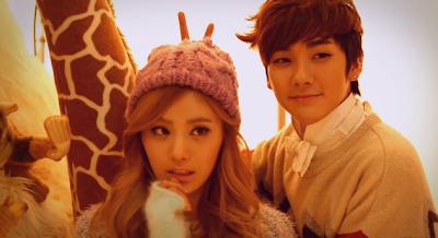 Orange Caramel and NU'EST members Nana and Aron