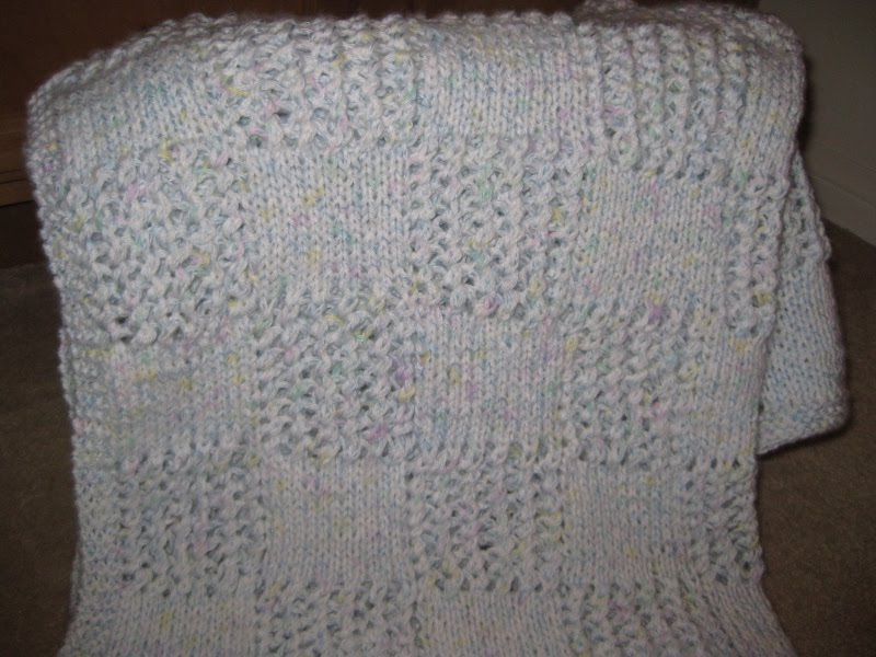 dollee: Knitted Baby Blanket: Patchwork Pleaser