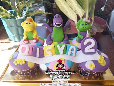 Cupcake Barney Cute Daerah Surabaya - Sidoarjo