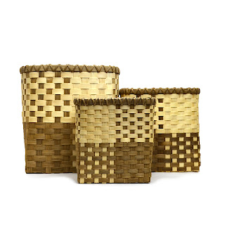 Set of three nested Block Party Baskets
