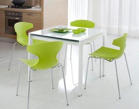 Modern Small Rectangular Glass Dining Table