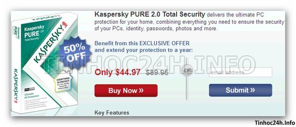 step 4 Kaspersky PURE 2.0 Total Security bản quyền 6 tháng miễn phí