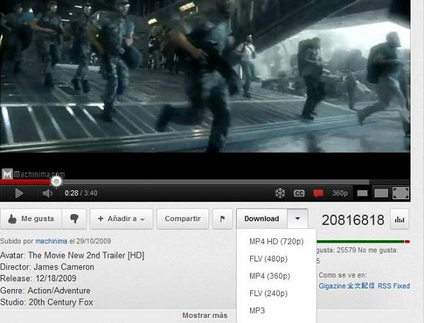 Complemento Para Descargar Videos De Youtube Con Chrome