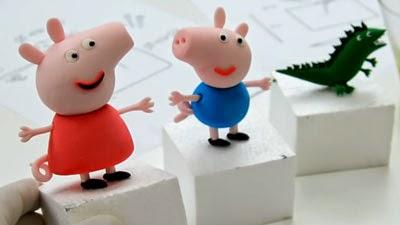 Muñeco, Figuras Peppa Pig en Fondant