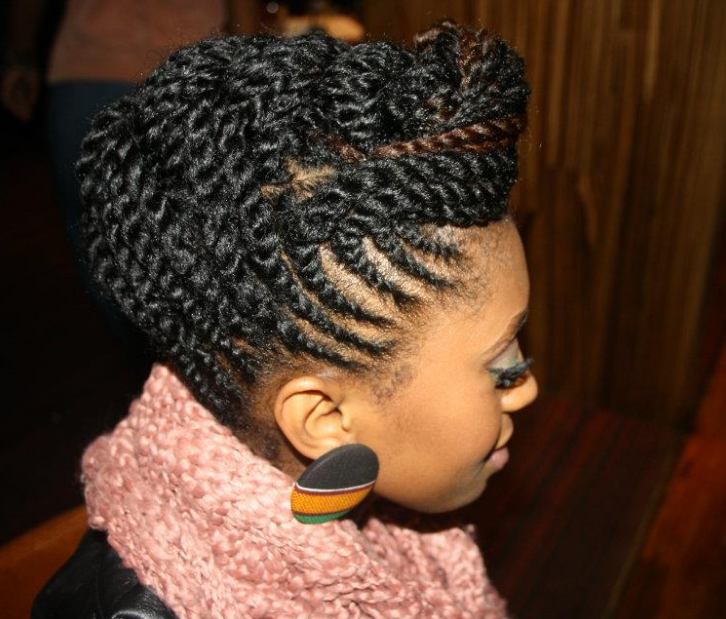protective hair style remember to keep your hair moisturised