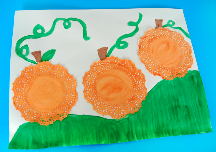 It's just a graphic of Bright Pumpkin Crafts for Preschool
