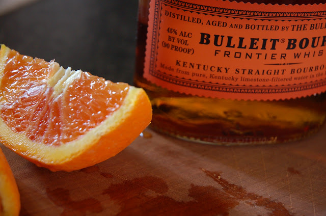 Bulleit Bourbon Whiskey and Oranges