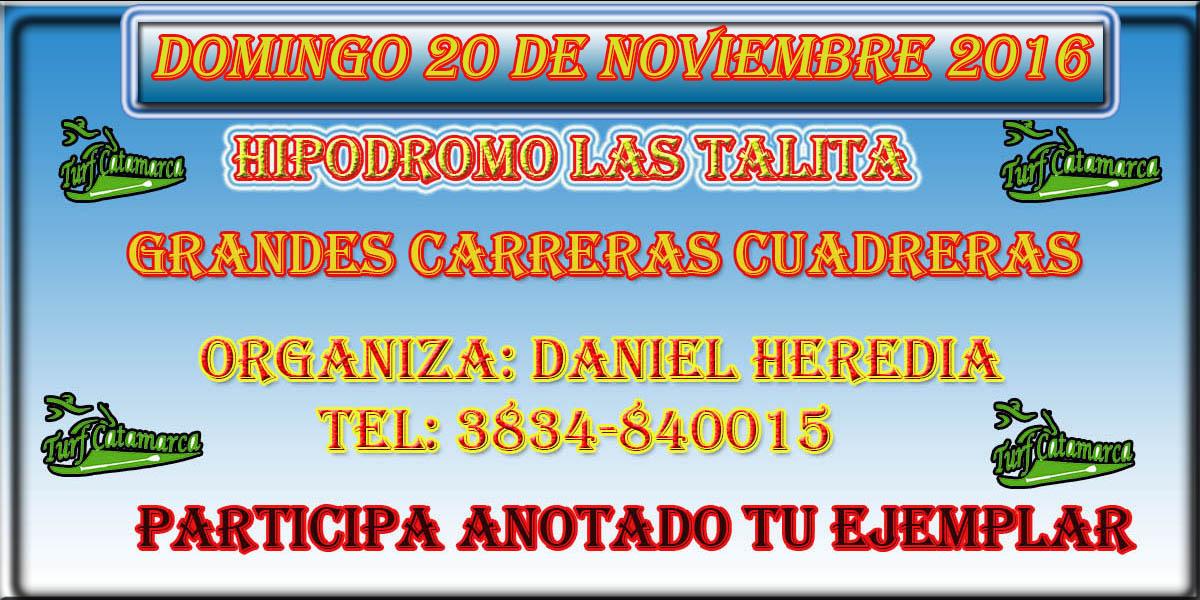 20 de noviembre las talitas