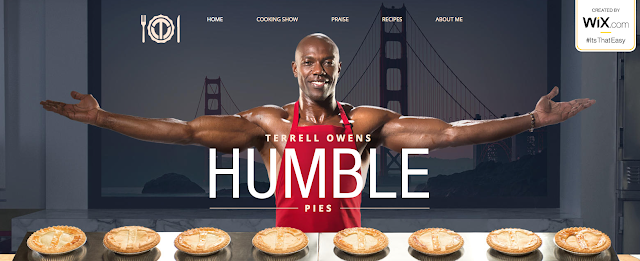 Terrell Owens in an Apron Featuring his Humble Pies