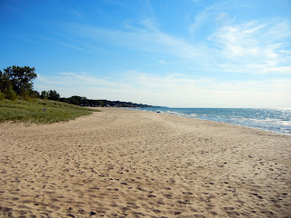 Beach in St. Joseph, Michigan