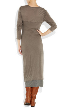 Donna Karan Casual Luxe's gray-brown wool-jersey dress