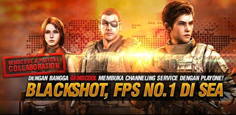 Gemscool Kerjasama Playone Asia Rilis Blackshot Buat Gamer Indonesia