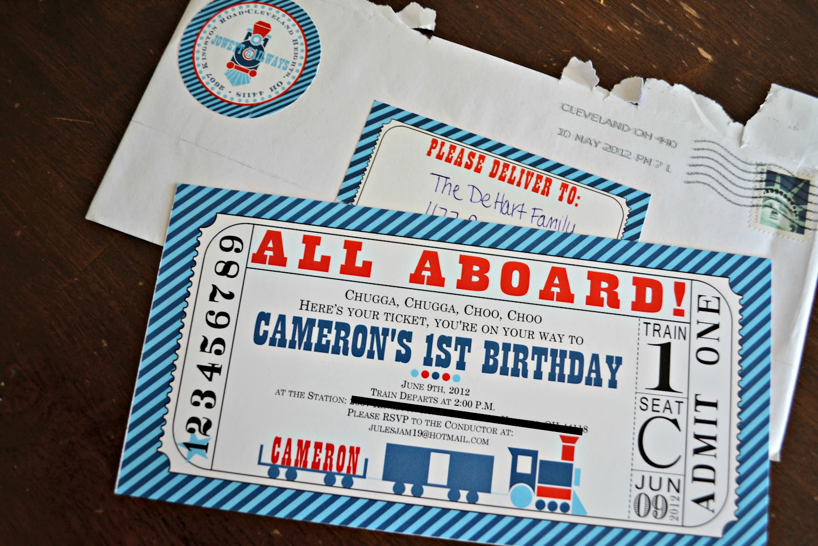 Train Themed Birthday Party Invitations train birthday train party