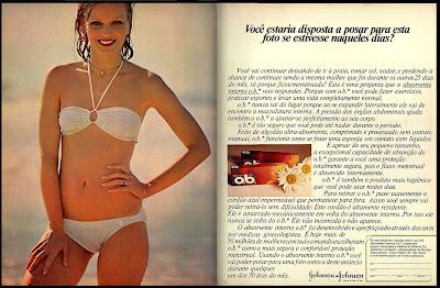 o.b. - Johnson & Johnson;  os anos 70; propaganda na década de 70; Brazil in the 70s, história anos 70; Oswaldo Hernandez;