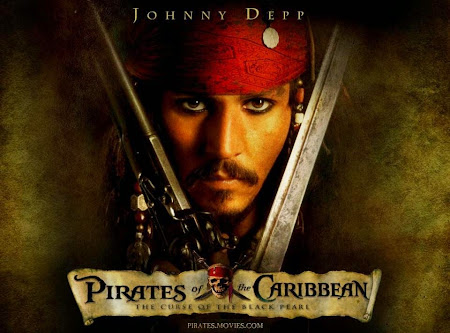 Poster Of Pirates of the Caribbean: The Curse of the Black Pearl 2003 In Hindi Bluray 720P Free Download