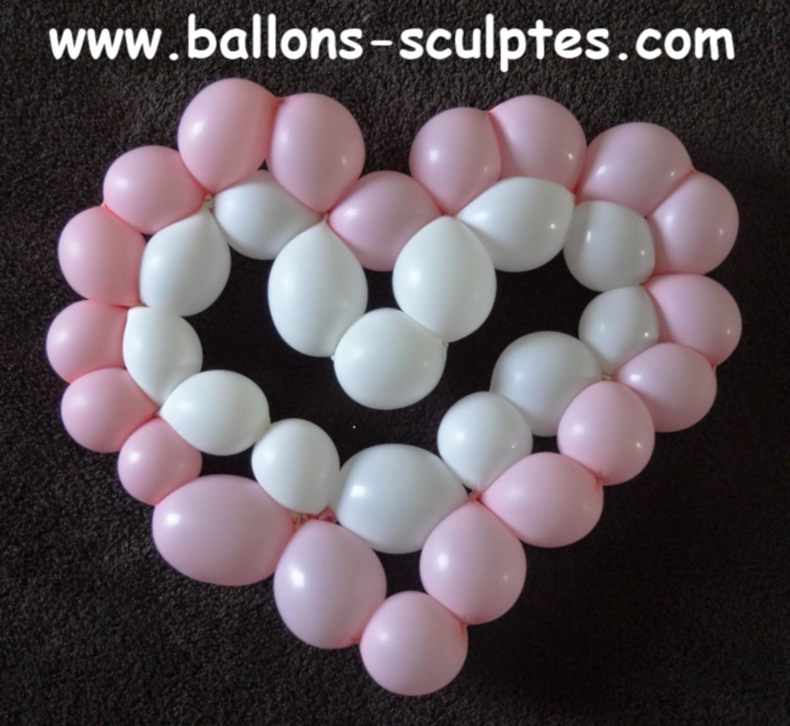 coeur bicolore en ballons