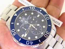 TAG HEUER AQUARACER GRANDE DATE CHRONOGRAPH BLUE DIAL - TAG HEUER CAN 1011.BA0821