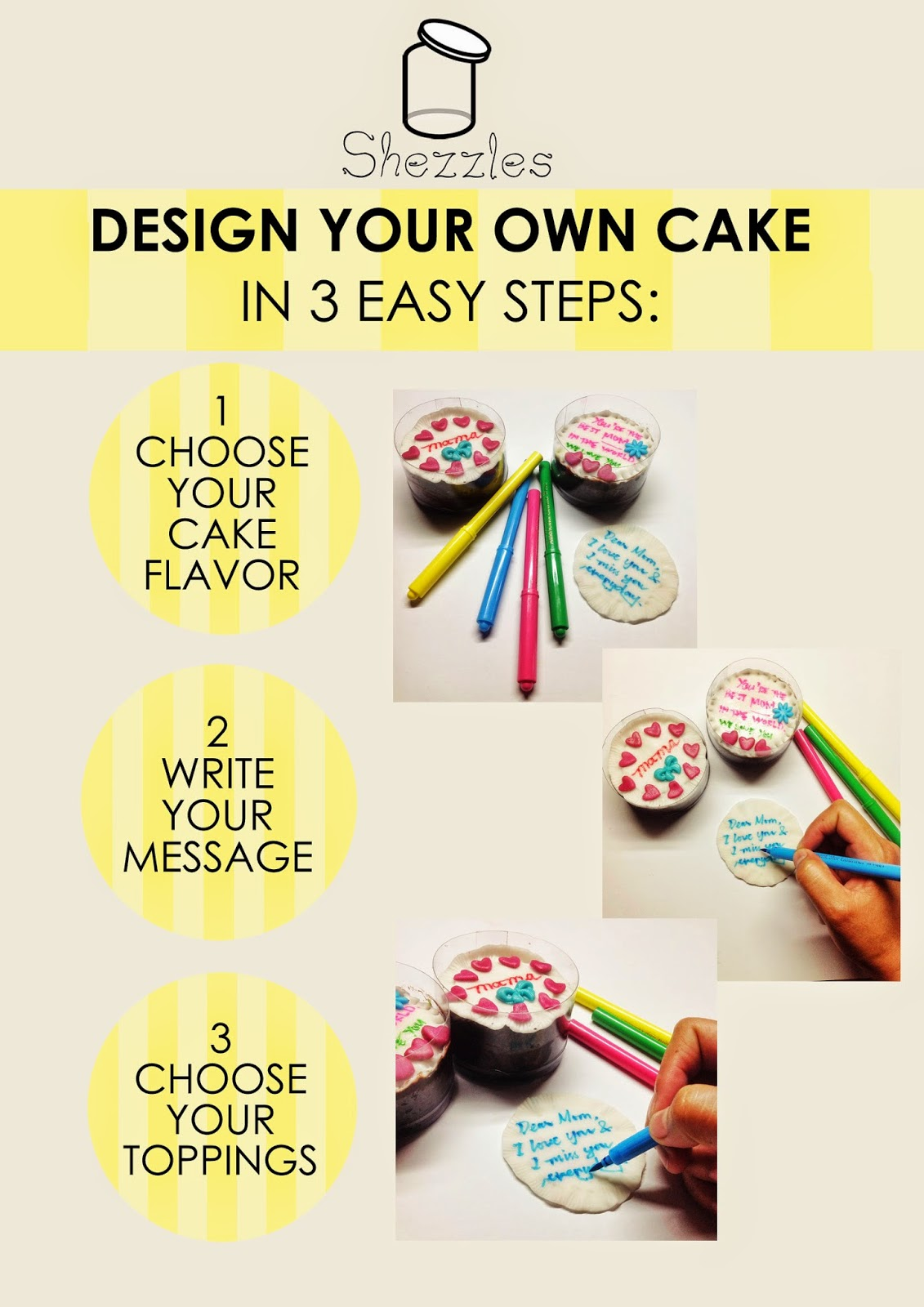 Cake Design Your Own : Shezzles Dessert in a jar: Design Your Own Cake This ...