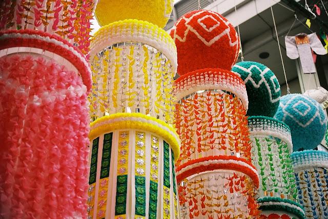 vivid sendai tanabata decorations :)