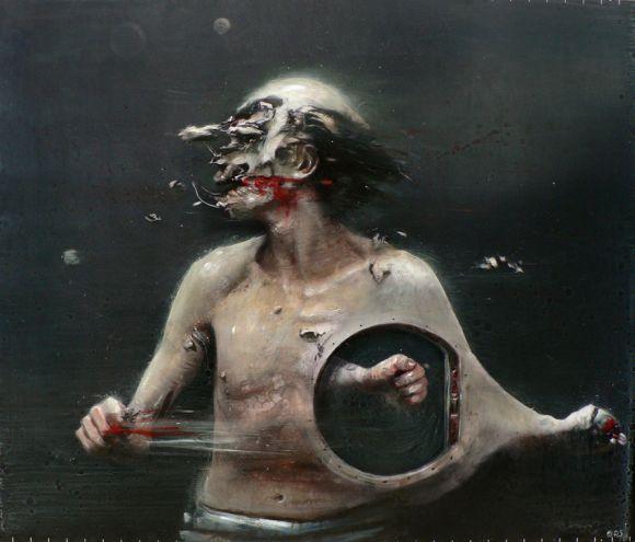 Olivier De Sagazan pinturas macabras perturbadoras pesadelos