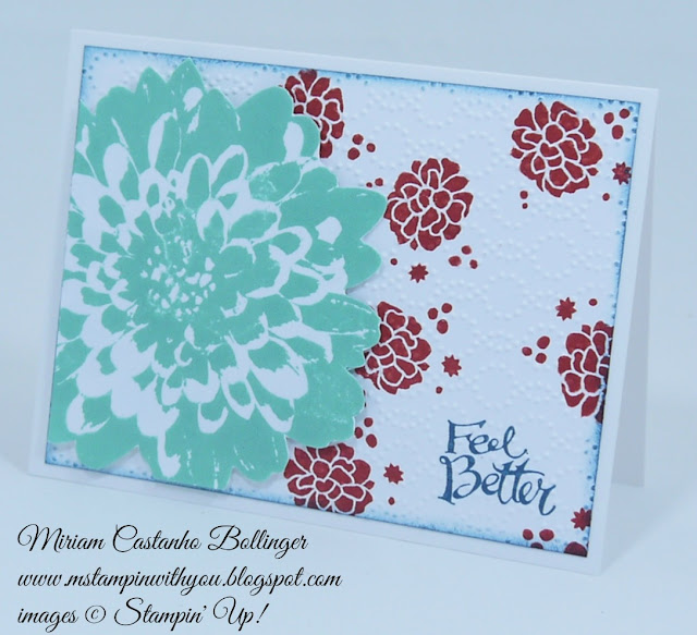 Miriam Castanho Bollinger, #mstampinwithyou, stampin up, demonstrator, pp, get well, definitely dahlia, perpetual birthday calendar, sassy salutations, texture boutique machine, elegant dots tief, su