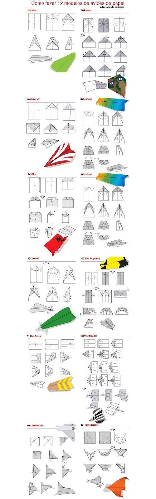 Como fazer uma avião de papel