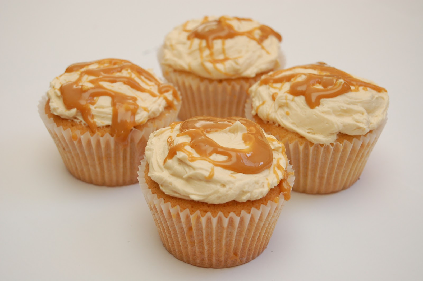 ... to eat properly: vanilla caramel cupcakes with salted caramel frosting