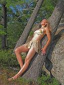 Bikini top with Tasseled Skirt