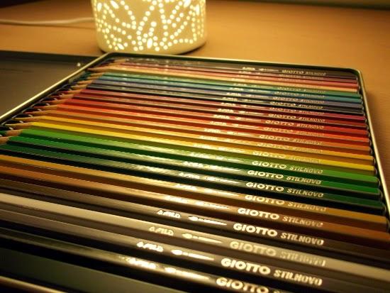 Ses crayons aquarellables