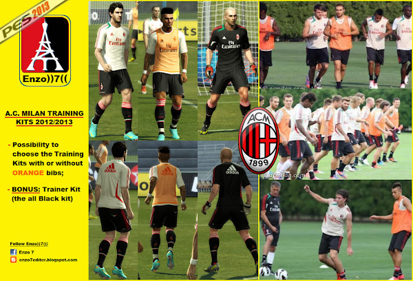 PES 2013 AC Milan 2012/13 Training Kits by Enzo))7((