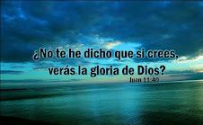 Jesús le dijo: ¿No te he dicho que si crees verás la Gloria de Dios?