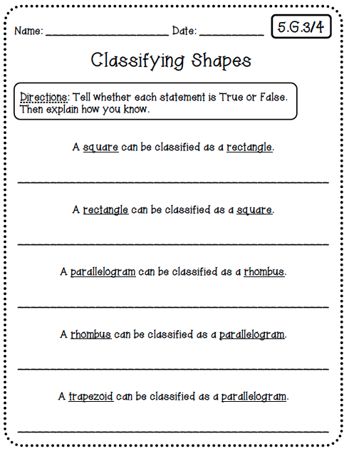 Common core worksheets 5th grade