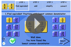 http://www.iboard.co.uk/iwb/Add-Simplify-and-Convert-to-Mixed-Fractions-369