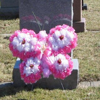 Order a Pink Butterfly made from weather resistant faux flowers