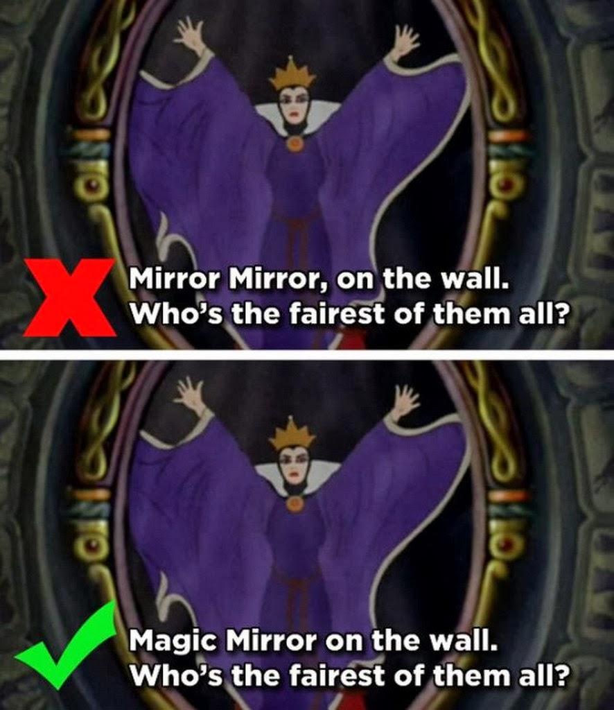 Mandela effect beattractive snow white mirror mirror on the wall magic mirror on the wall amipublicfo Choice Image