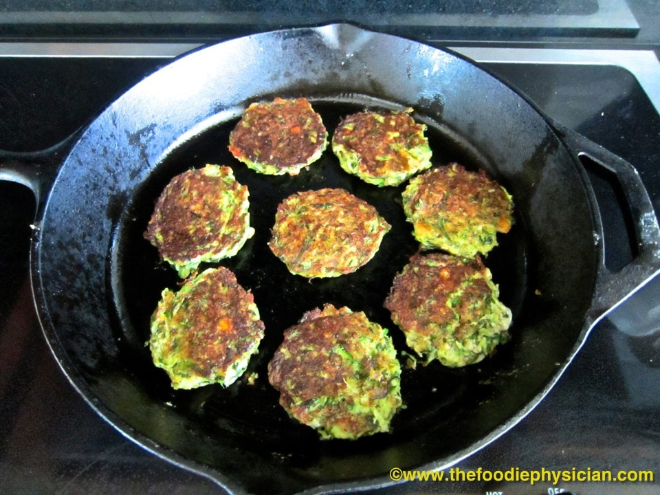 Remove the frittersfrom the pan. Pour the remainingtablespoon oil into ...